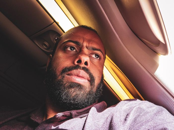 Selfie Osmo Pocket Window Airplane Ricardo Barbosa Ugly Selfie One Person Real People Portrait Lifestyles Headshot Indoors  Leisure Activity Sunlight Human Face Human Body Part Close-up