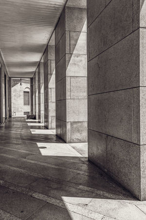 Architecture Built Structure Architectural Column Building Arcade Day No People Sunlight Indoors  Direction Corridor The Way Forward Empty Absence Shadow In A Row Nature Concrete Colonnade Ceiling Underneath