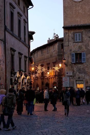 Orvieto, Italy Travel Travel Photography Traveling Architecture Building Exterior Built Structure City Illuminated Italian Italy Large Group Of People Lifestyles Men Night Orvieto Outdoors People Real People Road Sky Street Travel Destinations Walking Women