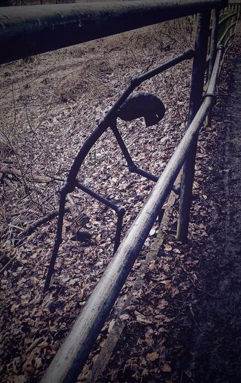 Day Fence Metal Metalwork No People Outdoors Stickman Stickman In The Woods