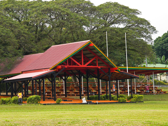 British Paddock Melanesian Spearhead Group Port Vila Vanuatu Architecture British Paddock Building Exterior Built Structure Day Exterior Grass Green Color Growth Lawn Melanesian Spearhead Group Outdoors Outside Pacific Pacific Ocean Park Park - Man Made Space Port Vila Vanuatu Red Surface Level Tree