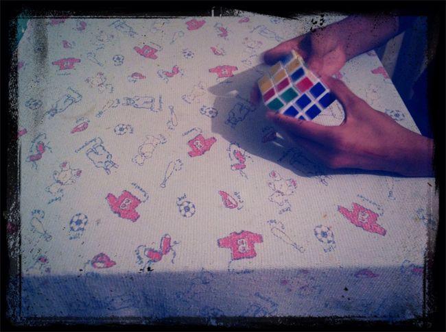 Aquí resolviendo mi cubo
