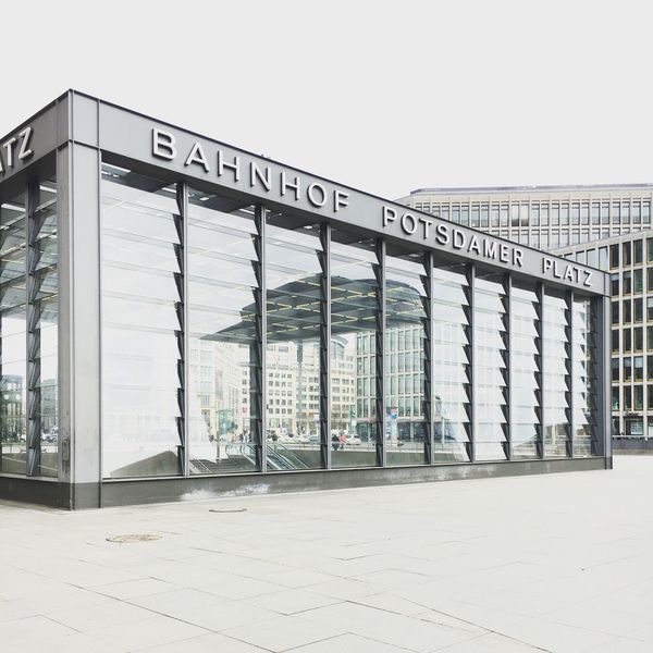 Potsdamer Platz Berlin Berlin Berlin Photography Design Built Structure Architecture Modern No People Building Exterior Text Exit Sign Day Outdoors