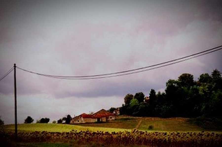 France Landscape Sky Field Tree Beauty In Nature Nature No People Tranquility Scenics Cable Rural Scene Grass Outdoors Day Animal Themes