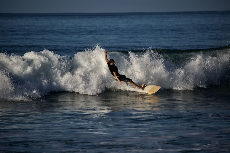 Water Sea Motion Sport Aquatic Sport One Person Surfing Wave Extreme Sports Splashing Adventure Speed Side View Horizon Over Water Surfboard Nature Beauty In Nature Day Outdoors Skill  Power In Nature Conquering Adversity