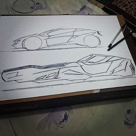 Every day sketch Sci -fi Racingpod Starwars Sketching conceptcar