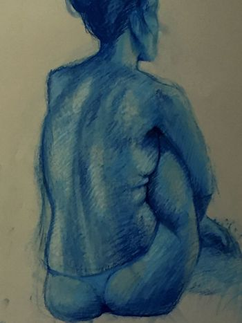Oilpastel Oilpastels Blue Azure Colors Art Drawing Relaxing Model Copy Copiadalvero Modella Copia Colori Pastelli Olio Azzurro