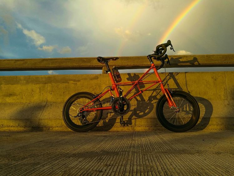 Bicycle Transportation Mode Of Transport Land Vehicle Outdoors No People Sky Nature Day Alexmoulton Moulton TSR Sky And Clouds Aekhiggin Aekhigginleica Aekhigginphoto Street Photography Streetphotography Cloud - Sky