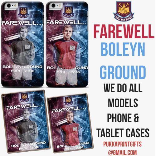 New Farewell Boleyn Ground Bobby Moore #WHUFC Limited Phone/Tablet Cases Available Now We Do All Models Want One?