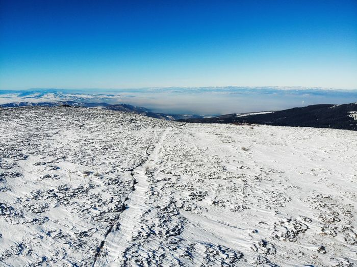 Winter Nature Mountain Snow Drone  Dronephoto Blue Sky Tranquility Land Scenics - Nature Beauty In Nature Nature Tranquil Scene No People Day Copy Space Clear Sky Outdoors