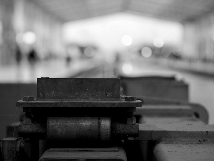 Focus On Foreground No People Empty Close-up Metal Indoors  Seat Bench Table Old Still Life Absence Wood - Material Day Built Structure Equipment Machinery Architecture Selective Focus