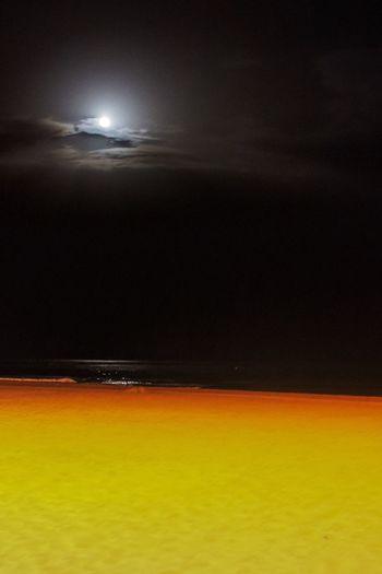 Sea Nature Tranquil Scene Water Beach Moon Night No People