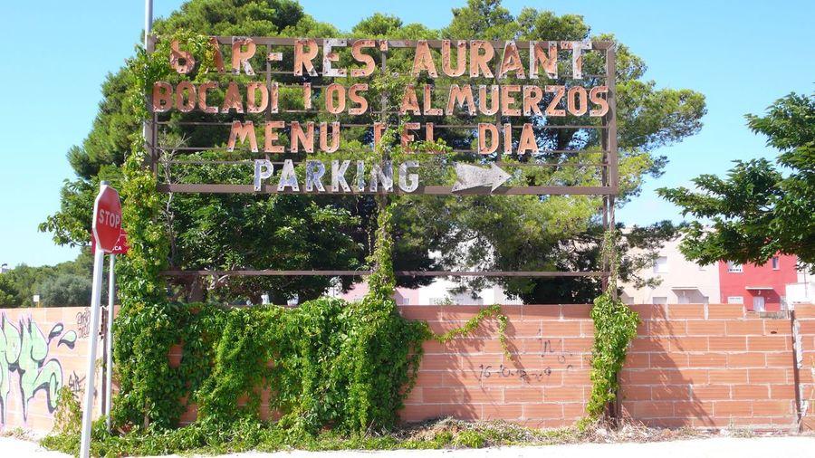 Bar Day Enseigne Espagne Exterior MiamiPlatja Nature No People Outdoors Plant Restaurant SPAIN Tree