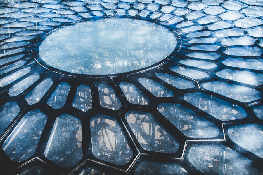 The floor of the 'Hive' at Kew Gardens, Richmond, England. Geometric Shapes Kew Gardens The Hive At Kew Abstract Bee Hive Cells Close-up Day Full Frame Geometric Geometric Abstraction Geometric Shape Hive Indoors  Kew Gardens, London Metal Pattern No People Pattern Patterns The Hive