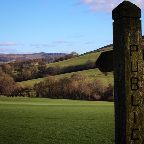 Just walking Hiking Nature English Countryside Outdoors Natural Beauty Countryside Signs Footpath Peak District  Tranquil Scene Landscape Winter Wintercolour Hills