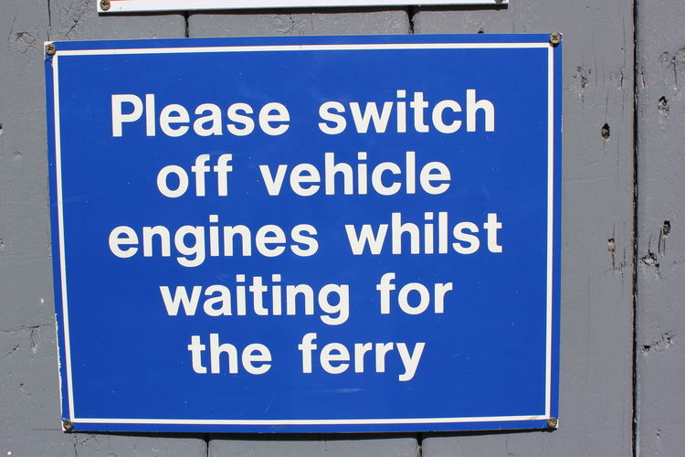 Notice for cars