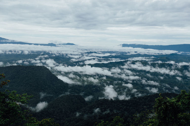 Borneo Highland, Kalimantan Viewpoint Beauty In Nature Cloud - Sky Cloudscape Landscape Landscape_Collection Mountain Mountain Range Nature Scenics Sky Tranquil Scene Tranquility