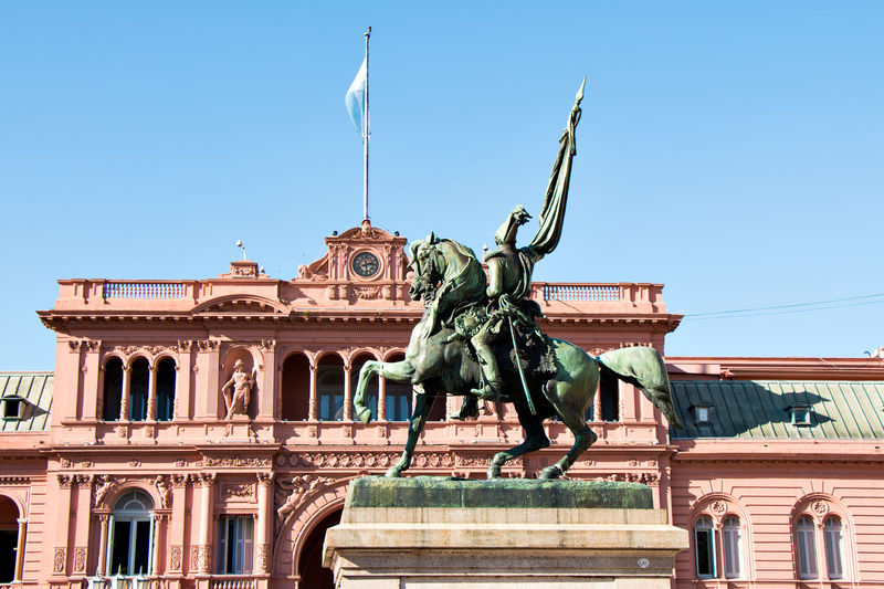 Low angle view of statue in buenos aires
