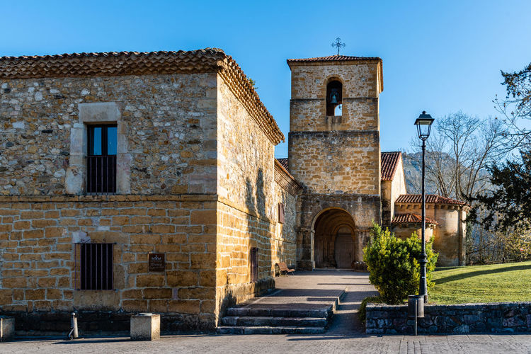 Church and monastry in Cangas de Onis, Asturias, Spain Building Exterior Architecture Built Structure Building Nature No People Arch Place Of Worship History Religion Entrance Sky The Past Day Door Outdoors Belief Façade Church Parador Cangas De Onís Hotel Luxury