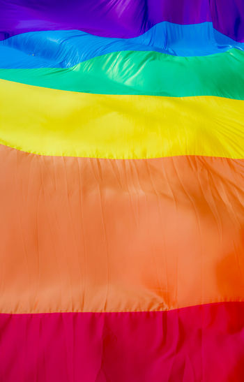 Close up of a giant rainbow flag GAY FLAG Rainbow Flag Fabric Gay Rights Multi Colored No People Close-up Textile Pattern Backgrounds Gay Gay Colors Lgbt LGBT Rainbows Lgbt ❤️ Lgbtq Outdoors