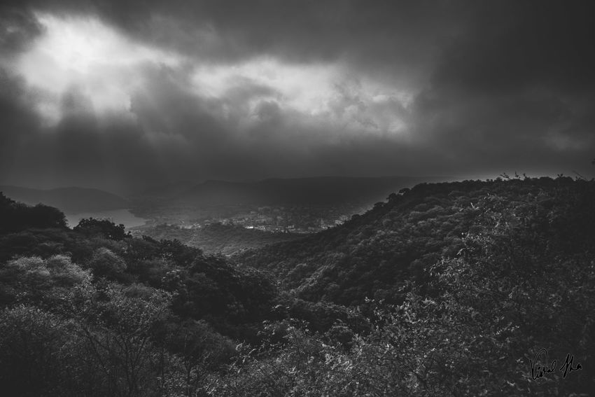 Silver Linings Ansel Adams Inspired India Nikon Sigma Art SigmaLenses Black And White Blackandwhite D750 Day Environment Land Landscape Landscape_photography Mountain Range Nature No People Non-urban Scene Outdoors Plant Power In Nature Sky Storm Tranquil Scene Tranquility Tree