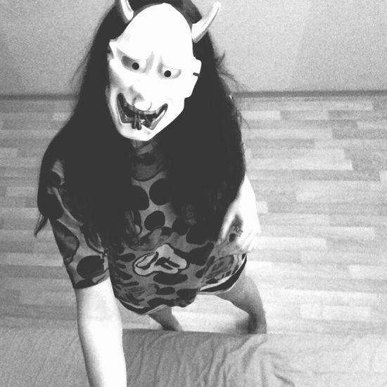 I'm fine 😂😂😂😂. Oni Mask Check This Out That's Me Hello World Cheese! Hi! Relaxing Taking Photos Girl Like4like Followme Likeforlike Likeit