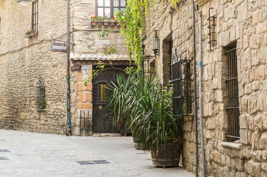 Building Exterior City Day Door Green Town No People Old Town Outdoors Pamplona SPAIN Stone Material Street Town