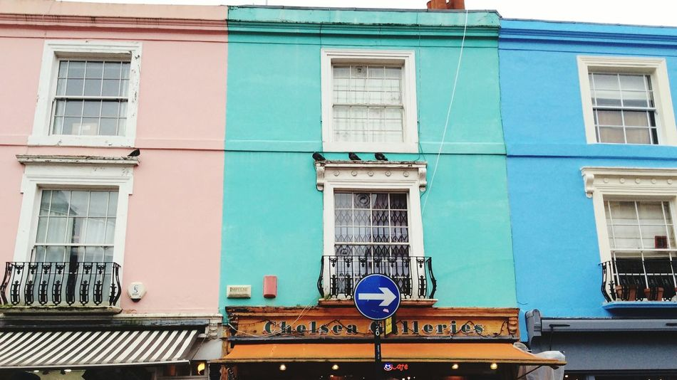 Europe LONDON❤ City Notting Hill Londonlife London Street Wall House Facades Architecture Colours Coloured Walls Window Coloured Houses