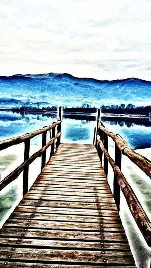 Alserio lake Digital Painting