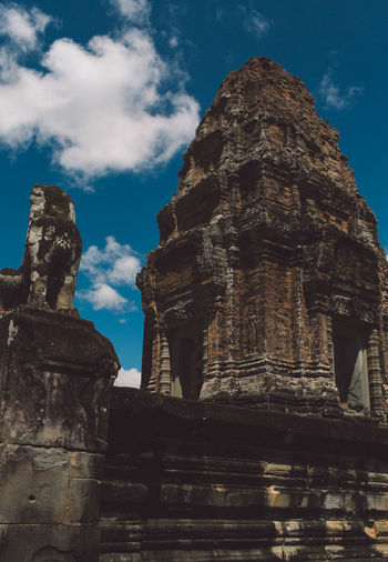 Siem Reap Cambodia Angkor History Architecture The Past Built Structure Ancient Sky Place Of Worship Spirituality Religion Old Ruin Travel Belief Travel Destinations Old Tourism Low Angle View No People Building Ancient Civilization Outdoors Ruined Archaeology