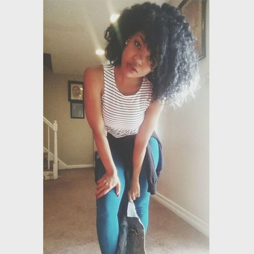 All natural ?✊ Naturalhair Allme Themovement Blackhaircangrow EmbraceYourRoots Loveyourkinks Kinkycurly Allnatural Okbye :)