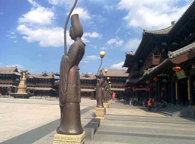 山西大同华严寺 Temple Chinese SHANXI CHINA Datong City Sky And Clouds