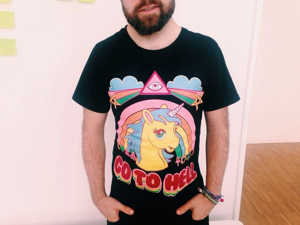 Dirty pony. Being All Lean Bearded Boys Color Portrait Tshirt