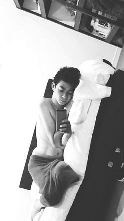 Full Length High Angle View Adults Only People Indoors  One Person Archival Young Adult Adult Sick :( Tired And Bored Sleepy Gayslife Young Boy