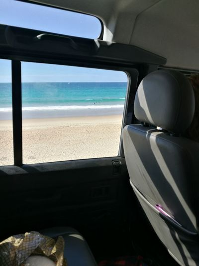 No People Car Transportation Beach Sea Day Water Sky Clear Sky Window View Car View