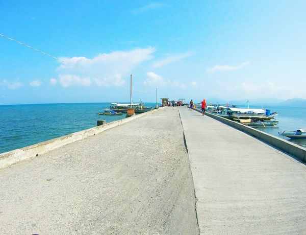 Mauban port Philippines Bright Underthesun Blue Sky Beauty In Nature Sea Beach Nautical Vessel Water Sunny Pier Sky Cloud - Sky Water's Edge Harbor Outdoors Blue Day
