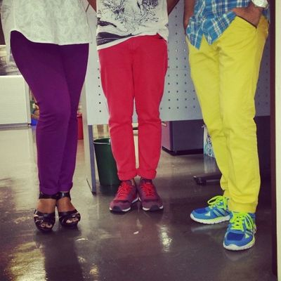 Colorful pants to the max!! ;)