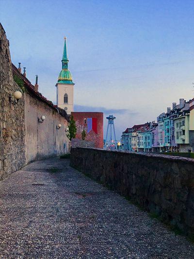 Amazing place to walk around the city... Kapitulske Dvory Bratislava, Slovakia City Walls SNP Bridge Restaurant UFO