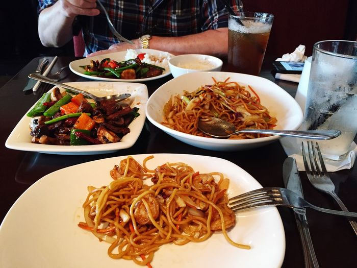 Chinese lunch at P.F. Chang's restaurant The Place I've Been Today Food And Drink Lunch Amazing Place Beautiful Day Mobile Photo Eating Lunch Relaxing Moments Hello World Enjoying Life