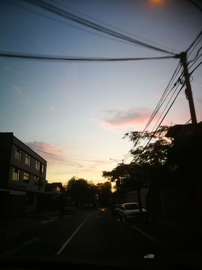 sunset street City Telephone Line Tree Sunset Road Silhouette Cable Sky Cloud - Sky Vehicle