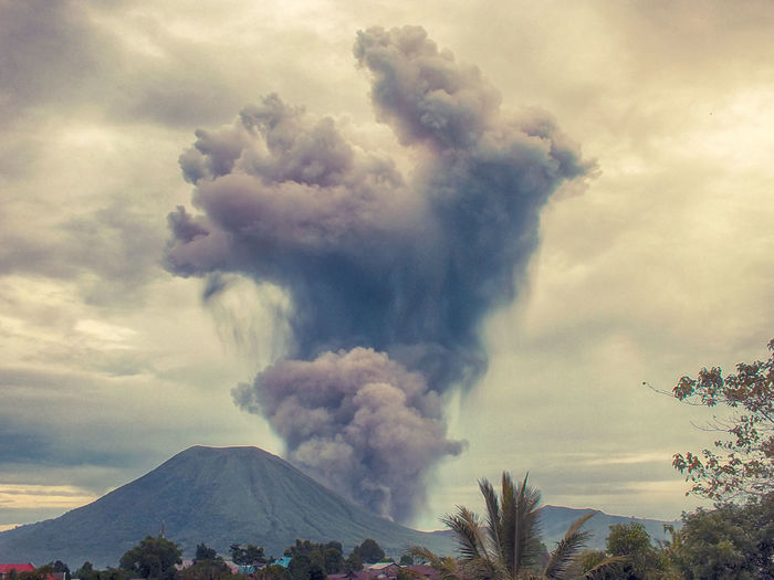 Lokon eruption Beauty In Nature Cloud Cloud - Sky Cloudy Day Idyllic Landscape Low Angle View Majestic Mountain Mountain Range Nature No People Non Urban Scene Outdoors Scenics Sky Tranquil Scene Tranquility Volcanic Ash Fresh On Eyeem