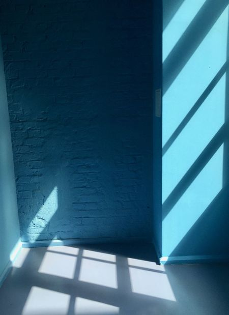 Iwantthatcamera Architecture Blue Building Built Structure Day Falling Focus On Shadow Indoors  Low Angle View Nature No People Railing Shadow Sunlight Wall Wall - Building Feature Window