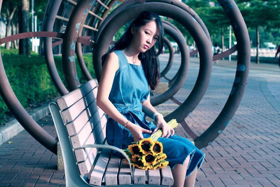 HongKong SunnyChan Photography Tsuen Wan Riviera Park Sunfower Beautiful Girl 2016 EyeEm Awards EyeEm Best Shots