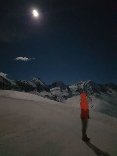 Night with full moon in the Alps Night Moon Outdoors Sky Red Astronomy Star - Space Nature HUAWEI Photo Award: After Dark