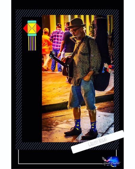 Harmonica Guitar Player Musician Street Photography Street Performer
