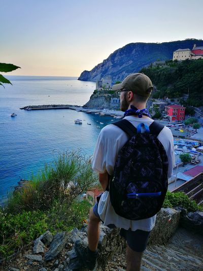 One of the world's most patient hikers who waited for his mom to take a million photographs. Trekking #travelling #sightseeing Trekking Nature Love Monterosso Al Mare Monterossoalmare Hikingphotography Cinque Terre Liguria Cinque Terre Italy Cinque Terre Cityscape Cinque Terre Landscape Cinque Terre Ports Cinque Terre Monterosso Al Mare Water Sea Men Beach Clear Sky Standing Summer Sky Horizon Over Water Hiker Tranquil Scene