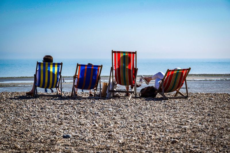 Sussex and chill Sussex Coast Sussex British Summertime British Summer Deckchairs On The Sand Deckchairs Deckchairs Family Family Time Relaxing Worthing Beach Worthing Beachphotography Beach Photography Beach Water Sea Beach Sky Land Nature Sand Tranquility Chair Outdoors Sunlight Day