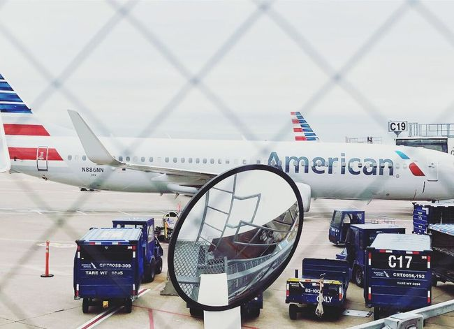 Dallas Fort Worth Americanairlines Airliner Transportation Architecture City Built Structure Text Travel Communication