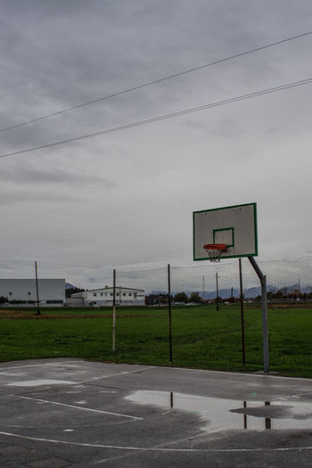 Alone Basket Basketball Basketball Field Empty Basketball Court No People No Player Play