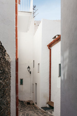 Clean Red Lines Absence Architecture Building Built Structure Catalonia Catalunya Door España Exterior Flooring Leading Mediterranean  Metal Narrow SPAIN Spanish Staircase Steps Steps And Staircases The Way Forward Wall Wall - Building Feature White Window The Architect - 2016 EyeEm Awards